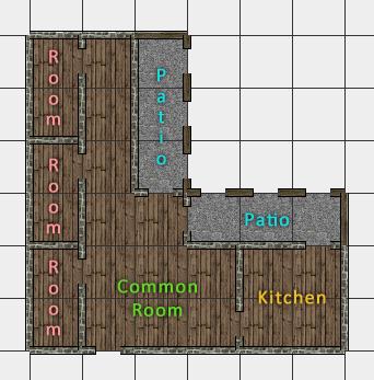 Twin Feather Inn: ground floor layout