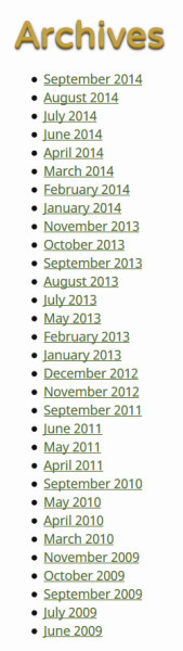 And there are whole months that I skipped